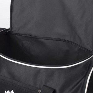 Сумка спортивная, 3 отдела на молниях, наружный карман, цвет чёрный