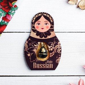 Подвеска-матрёшка на открытке Russian style