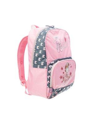 Рюкзак текстильный для девочек розовый,черный