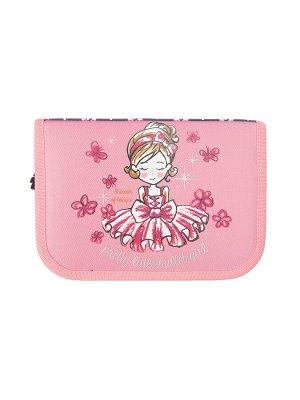 Пенал текстильный для девочек розовый