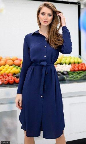 Платье 440259-3 синий Весна Украина