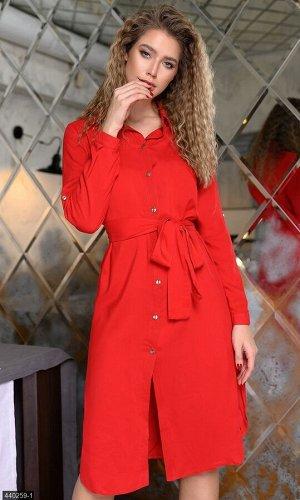 Платье 440259-1 красный Весна Украина