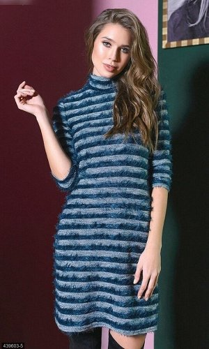 Платье 439603-5 морская волна Зима 2019 Украина