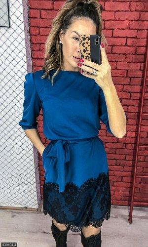 Платье 439404-4 морская волна Осень-Зима 2018 Украина