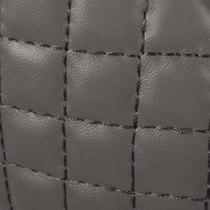 Сумка поясная, отдел на молнии, наружный карман, цвет серый