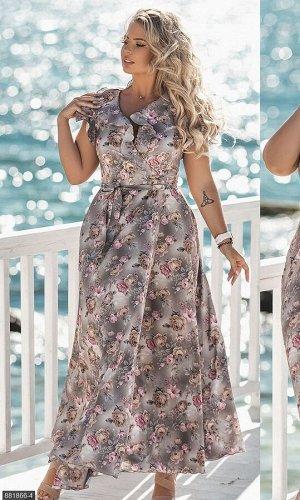 Платье 881866-4 серый Лето Украина