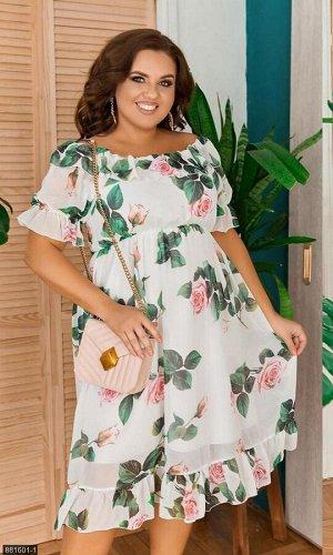 Платье 881601-1 белый Весна-Лето Украина