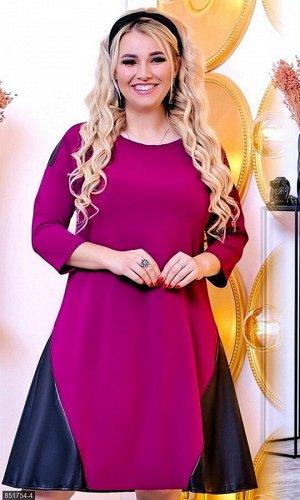 Платье 851754-4 фиолетовый Осень-Зима 2018 Украина