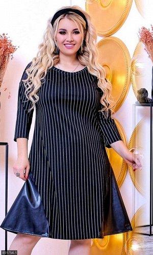 Платье 851754-1 черный Осень-Зима 2018 Украина