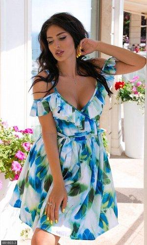 Платье 881803-3 зеленый Лето Украина