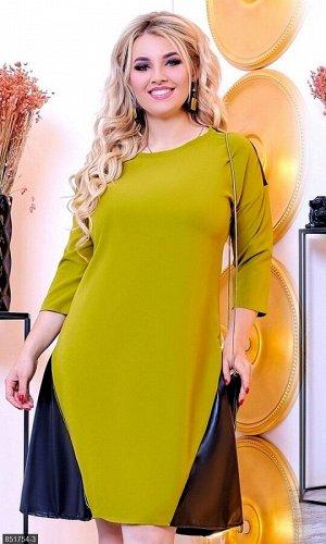 Платье 851754-3 зеленый Осень-Зима 2018 Украина