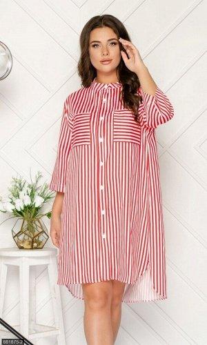 Платье 881875-2 красный Лето Украина