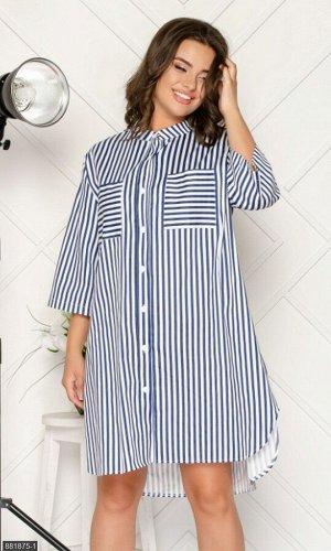 Платье 881875-1 синий Лето Украина