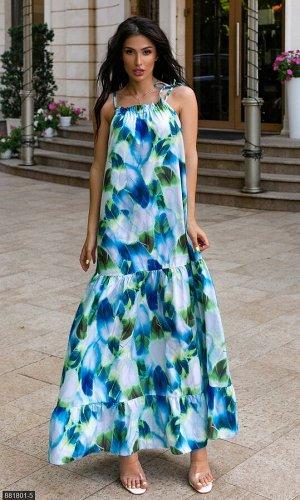 Платье 881801-5 зеленый Лето Украина