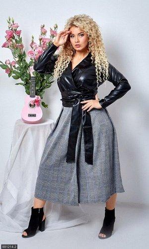 Платье 881214-2 серый Зима-Весна Украина