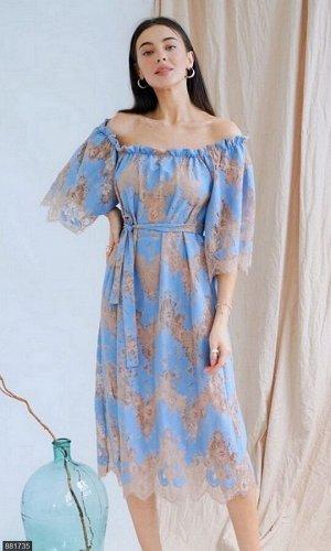 Платье 881735 голубой Лето Украина