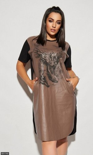 Платье 881746 коричневый Лето Украина