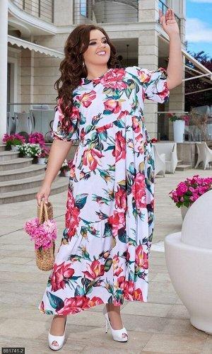 Платье 881741-2 белый Лето Украина