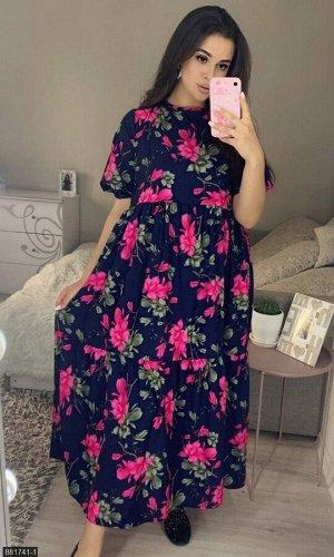 Платье 881741-1 синий Лето Украина
