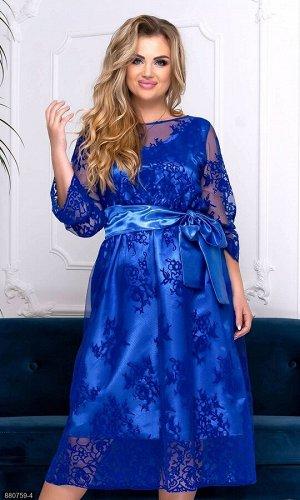 Платье 880759-4 синий Осень-Зима 2019 Украина