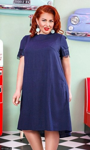 Платье 8513087-2 синий Лето 2019 Украина