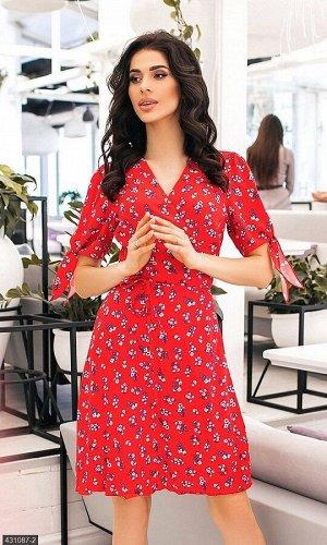 Платье 431087-2 красный Весна Украина