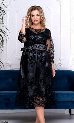 Платье 880759-1 черный Осень-Зима 2019 Украина