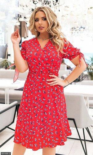 Платье 881486-2 красный Весна Украина