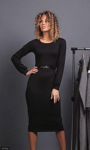 Платье 437635-1 черный Осень-Зима 2019 Украина