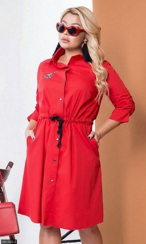 Платье 881300-2 красный Весна Украина