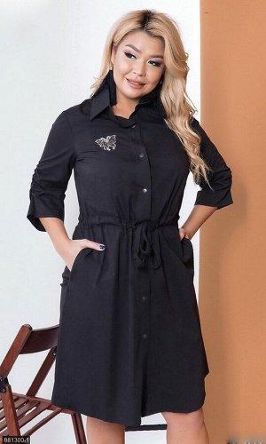 Платье 881300-1 черный Весна Украина