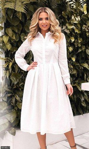Платье 881483-1 белый Весна Украина