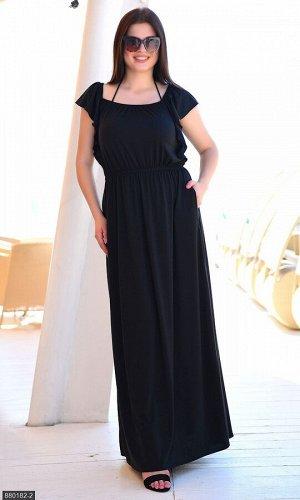 Платье 880182-2 черный Лето Украина