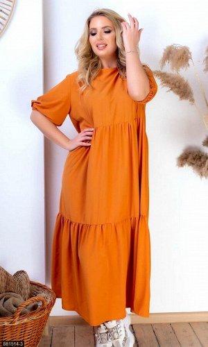 Платье 881514-3 оранжевый Весна Украина