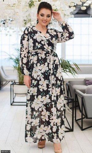 Платье 881401-1 черный Весна Украина