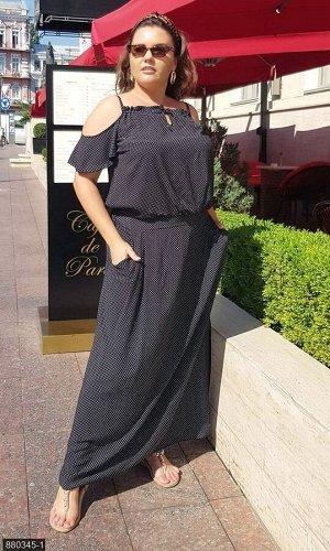 Платье 880345-1 черный Лето 2019 Украина