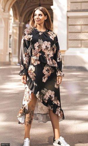 Платье 880710-1 черный Осень-Зима 2019 Украина