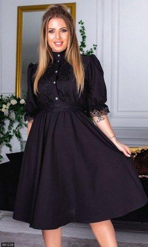 Платье 881238 черный Зима-Весна Украина