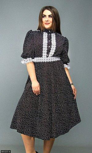 Платье 881237-4 черный Зима-Весна Украина