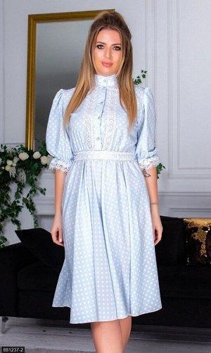 Платье 881237-2 голубой Зима-Весна Украина