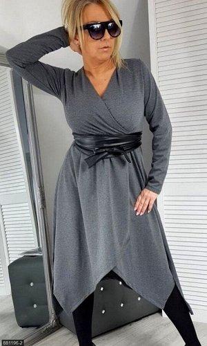 Платье 881196-2 серый Зима-Весна Украина