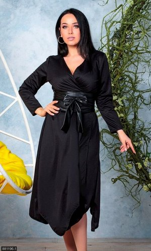 Платье 881196-1 черный Зима-Весна Украина