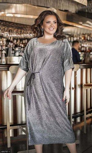 Платье 880787-1 серебро Осень-Зима 2019 Украина