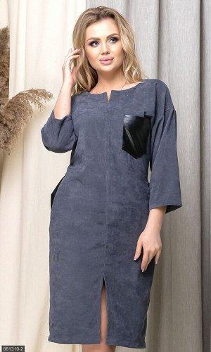 Платье 881310-2 серый Весна Украина