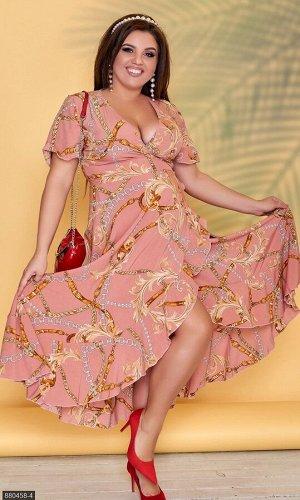 Платье 880458-4 пудра Лето Украина