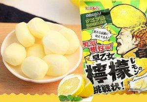 RIBON«Saotome Lemon Soft Candy» жев. конфеты с начинкой, супер кислый лимон, 70 гр