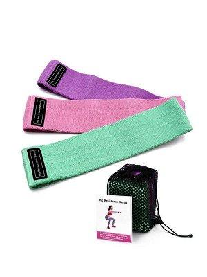 Набор фитнес-резинок (тканевые) FitRule (3 шт)