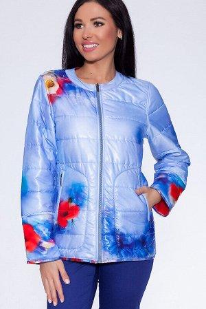 Куртка Состав: Полиэстер 100%;  Сезон: Осень, Весна;  Цвет: Сиреневый/красный;