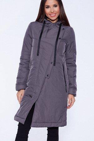 Пальто Состав: Нейлон 73%, Полиэстер 27%.  Цвет: Серо-фиолетовый.
