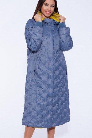 Пальто Состав: Полиэстер 63%, Нейлон 37%;  Сезон: Осень, Весна;  Цвет: Голубой;  Страна: Россия;  С подкладом: С подкладом (состав- 50% полиэфир, 50% п/э) Уютное утепленное стёганое пальто на раннюю в